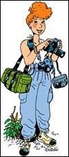 Comment s'appelle cette jeune journaliste, imaginée par Marc Wasterlain, parcourant le monde et arrivant à faire son travail et vivre ses aventures grâce à ses amis, capacités et son intelligence (et qui de plus a eu une aventure amoureuse avec un botaniste appelé Julien) ?
