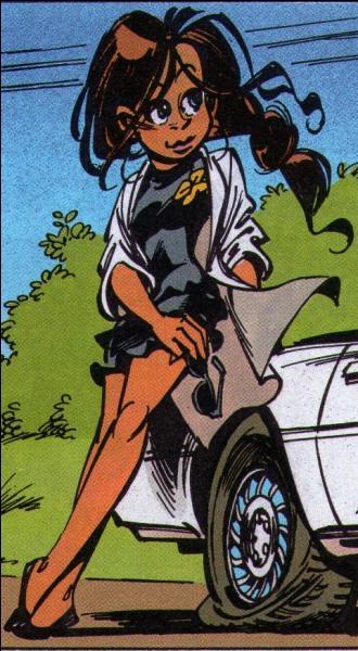 Comment se nomme cette jeune brune dessinée par Tome et Janry, fille d'un capo dont elle n'apprécie pas les méthodes et, bien que portant le nom de famille de ce dernier, est appelée autrement et applique ses propres méthodes de  travail  ?