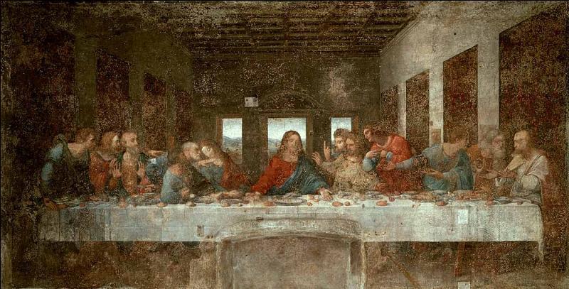 Léonard de Vinci a realisé cette fresque de 1494 à 1498.