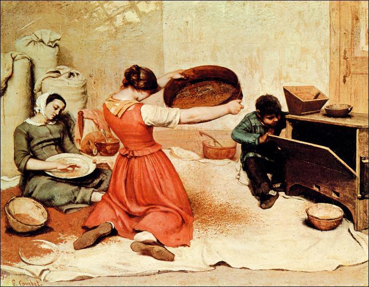 Ce tableau a été peint par Gustave Courbet en 1854.