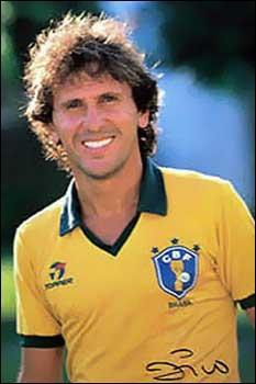 Sous quel nom est connu Arthur Antunes Coimbra, ancien footballeur brésilien né en 1963, surnommé à un moment de sa carrière, le  Pelé blanc  ?