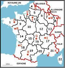 On revient sur celle-là, et je vous demande le nom d'une région qui porte un numéro compris entre 17 et 21. Cette région est à côté de la région portant le numéro 14. Il s'agit de la région...