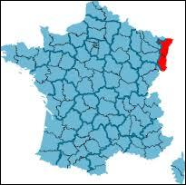 Sur cette image, toutes les régions sont en bleu, sauf...