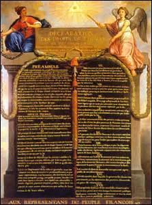 La Déclaration des droits de l'homme et du citoyen fut proclamée le...