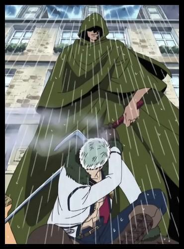 Épisode 53 - Quel personnage tatoué sur le visage et contrôlant la météo permet à l'équipage de Luffy de s'enfuir de Loguetown ?