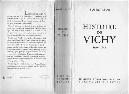 Quel est le nom de la théorie prônée par l'écrivain français Robert Aron en 1954 dans son ouvrage  L'Histoire de Vichy  ?