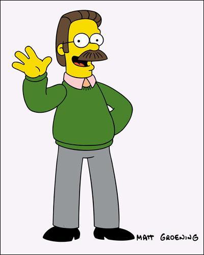 Qui est le voisin très croyant des Simpson ?