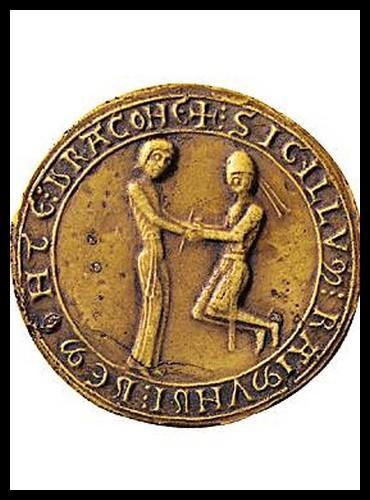 Voici un sceau de vassalité. Mais qu'est-ce qu'un sceau ?