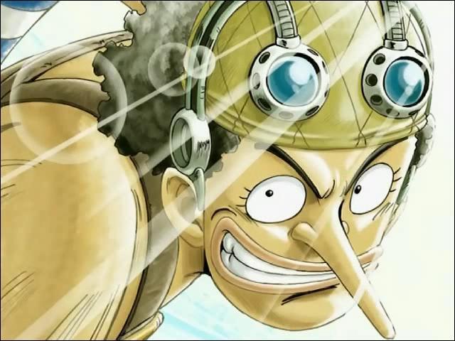 À qui Usopp faisait-il part de ses récits avant de rejoindre l'équipage de Luffy ?