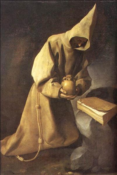 Contemporain du précédent, cet artiste est surtout connu pour ses peintures religieuses, nonnes, moines, martyrs et ses natures mortes. La méditation de saint François (1632).