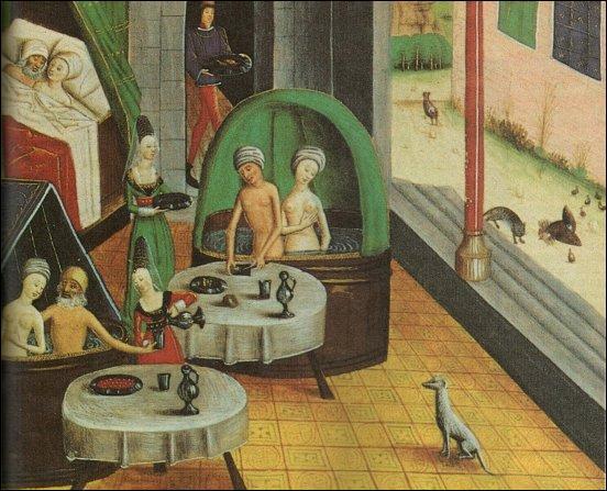 Quel nom portait la baignoire utilisée par les familles aisées, au Moyen Âge ?