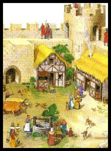 La basse-cour est une cour extérieure protégée par les murailles d'un château. Quelle est la seule chose à laquelle elle ne servait pas ordinairement ?