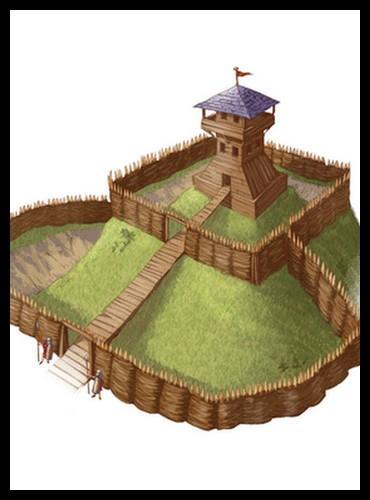Au début du Moyen Âge, les premiers châteaux forts étaient plutôt construits en :