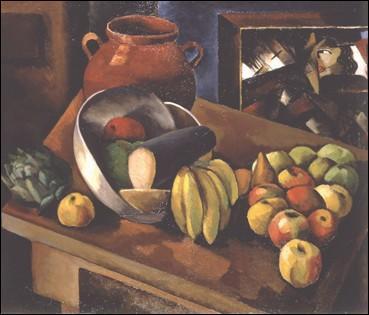Peintre français aux origines polonaises, ami de Modigliani, il est l'auteur de cette  Nature morte aux fruits  en 1913...