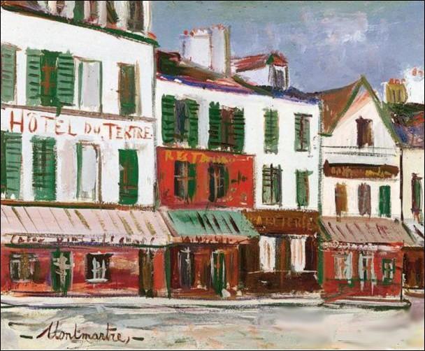 Il a peint la butte Montmartre de ses débuts jusqu'à la fin de sa vie. Ce peintre réalise en 1936  Le restaurant de la mère Catherine ...