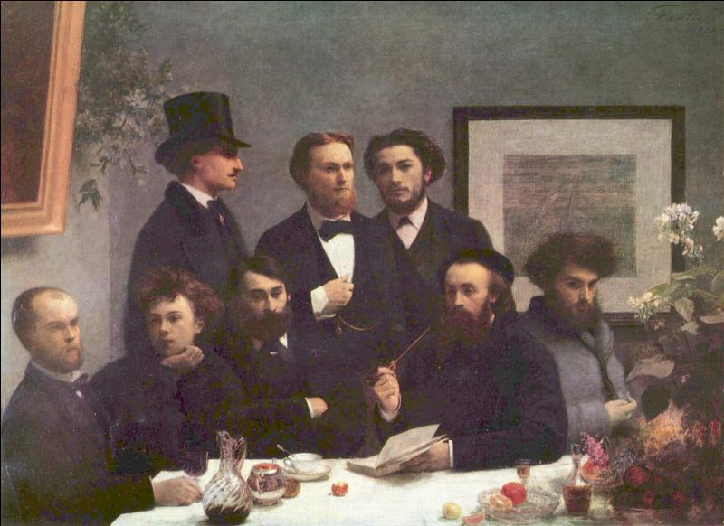 Ce peintre réaliste et intimiste, auteur de ce  Coin de table  en 1872, est considéré comme le chaînon qui unit les peintres d'aujourd'hui à la peinture romantique...