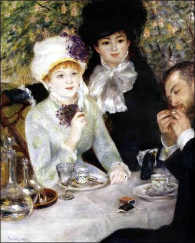 C'est à ce peintre né à Limoges que l'on doit ce tableau exécuté en 1879 et intitulé  Extrémité du repas ...