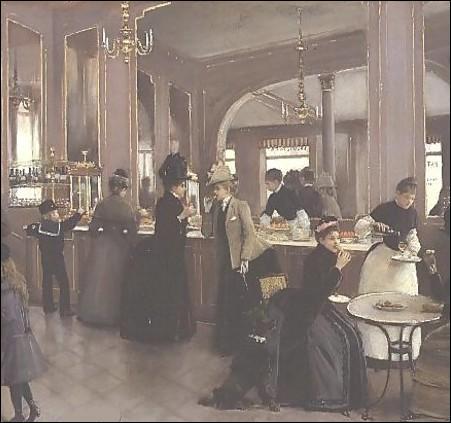 Quel peintre immortalise la célèbre pâtisserie Gloppe des Champs-Elysées en 1889 ?