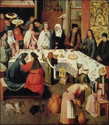 Représentées de nombreuses fois par des peintres de renom comme Véronèse et Giotto, a quel peintre attribue-t-on ces  Noces de Cana  ?
