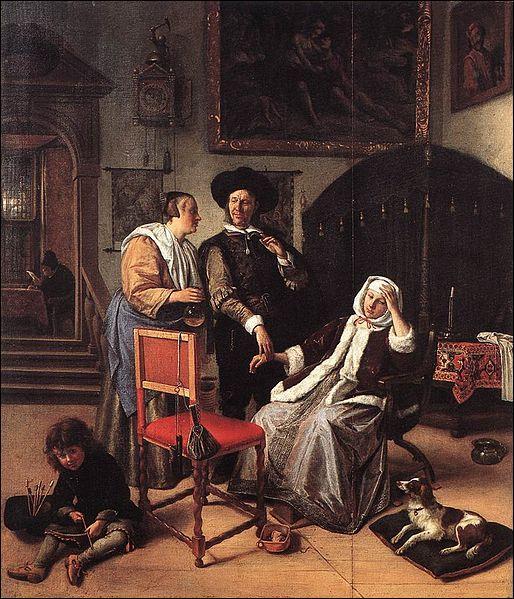 A quel peintre baroque néerlandais doit-on  La visite du médecin  ?