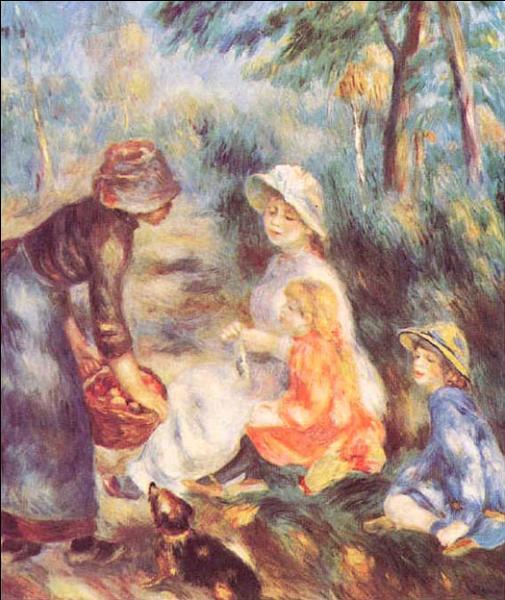 Quel grand peintre impressionniste a réalisé  La Marchande de pommes  en 1890 ?
