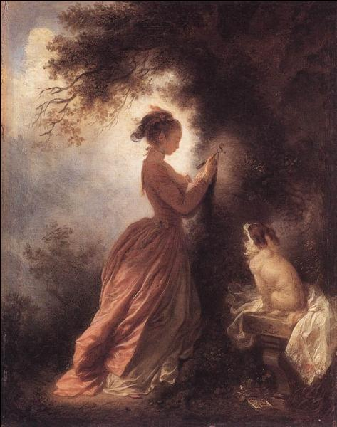 A quel peintre du 18e siècle, de la période rococo, doit-on cette toile intitulée  Le souvenir  ?