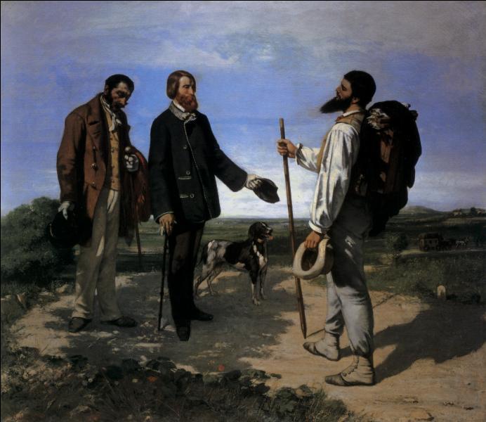 La Rencontre  (1854), est l'oeuvre la plus populaire de cet artiste qui s'est représenté ici, se dirigeant vers son mécène, Alfred Bruyas, rencontré sur le chemin, accompagné de son domestique et de son chien ?