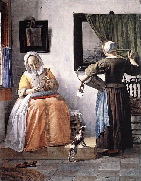 Quel artiste néerlandais du Siècle d'Or a peint  Femme lisant une lettre , vers 1663 ?