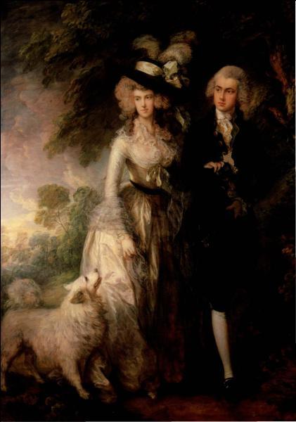 Quel célèbre peintre anglais du 18e siècle a peint cette  Promenade matinale , en 1785 ?