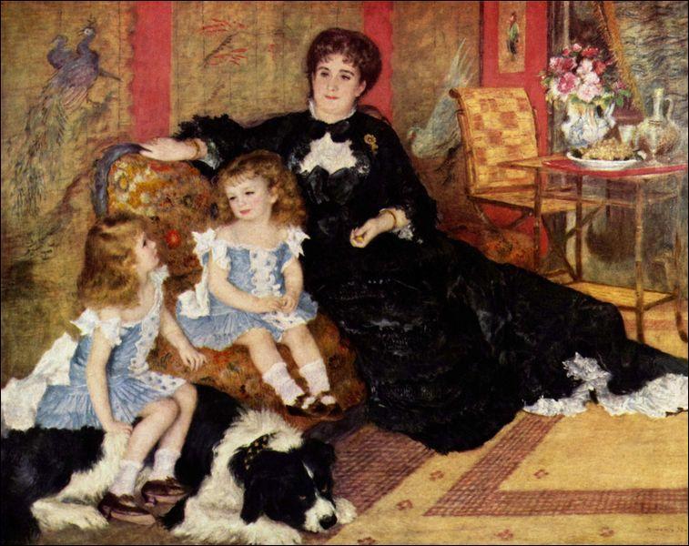 A quel peintre impressionniste doit-on ce portrait de famille  Madame Charpentier et ses enfants , exécuté en 1878 et qui triompha au Salon de Paris de 1879 ?