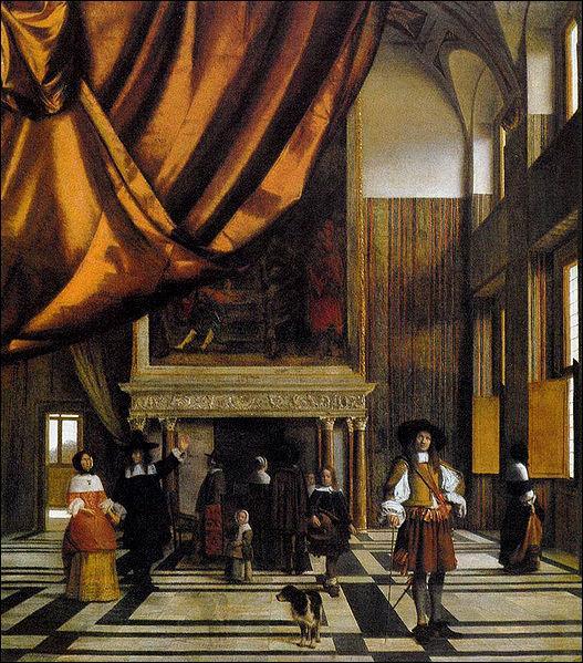 Quel peintre baroque néerlandais a représenté  La Chambre du Conseil de l'Hôtel de Ville d'Amsterdam , vers 1665 ?