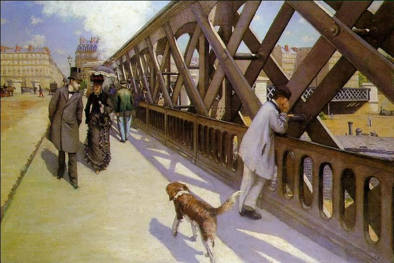 De qui est cette oeuvre,  Le pont de l'Europe , présentée lors de la troisième exposition impressionniste en 1877 ?