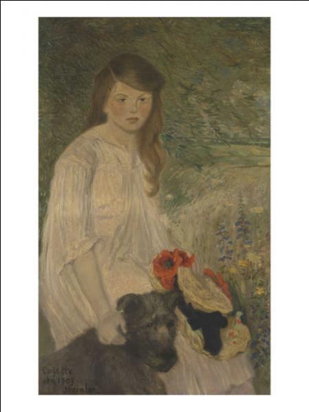 Dessinateur et lithographe d'origine suisse, il est le créateur de l'affiche du célèbre cabaret  Le Chat noir . Il a représenté sa fille sur ce tableau intitulé  Colette sur fond de jardin . Qui est-il ?
