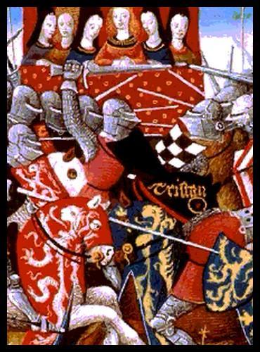 Comment appelait-on les rencontres pendant lesquelles les chevaliers s'affrontaient et exhibaient leur force en dehors des périodes de guerre ?