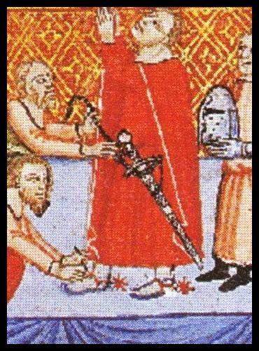 Lors de l'adoubement, le jeune chevalier recevait généralement plusieurs objets. Lequel d'entre eux était le plus important, le plus symbolique, celui qui faisait de lui un guerrier  officiel  ?