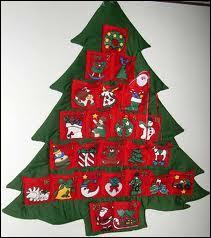 Comment s'appelle le calendrier de tradition germanique destiné à faire patienter les enfants durant 24 jours jusqu'à Noël ?