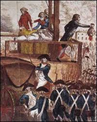 """La tête du roi a été présentée au peuple sous les cris de   """"Vive la Nation ! Vive la République ! """" tandis que retentissait une salve d'artillerie. Le cadavre de Louis XVI a été transporté ensuite au cimetière de la Madeleine, puis ..."""