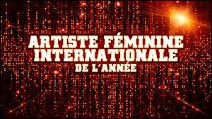 Question Nrj Music Awards 2014 : Qui sont les nominés dans la catégorie artiste féminine international de l'année ?