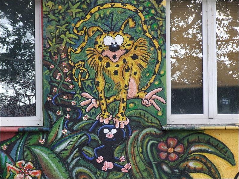 Houba, Houba, Marsupilami...  . Dans ses histoires, le Marsupilami habite dans la jungle tropicale de la Palombie. Cet endroit existe réellement.