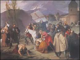 Quel était le cri de ralliement de cette armée de pauvres gens ? Cette armée commettra de nombreux pillages et massacres en cours de route et sera anéantie avant d'arriver à Jérusalem.