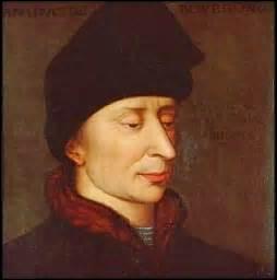Duc de Bourgogne, comte de Flandre et autres lieux, je nais le 28 mai 1371 à Dijon et décède le 10 septembre 1419 à Montereau-Fault-Yonne (Seine-et-Marne ), je consolide les bases de l'état de Bourgogne, je me heurte avec le frère du roi, Louis d'Orléans que je fais assassiner en 1407, quand à moi je suis tué par des hommes de main des Armagnac, à l'occasion d'une entrevue avec le dauphin...