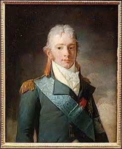 Duc de Berry, né à Versailles le 24 mars 1778, membre de la famille royale, fils de Charles X, je suis assassiné le 13 février 1820 alors que je sors de l'Opéra de la rue de Richelieu à Paris vers 23h, par l'ouvrier Louis-Pierre Louvel, qui souhaite avec ma mort éteindre la dynastie des Bourbon, je décède le lendemain, je suis...
