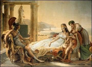 D'où, la splendide reine Didon est-elle partie afin de rejoindre la côte méditerranéenne et construire la ville de Carthage ?
