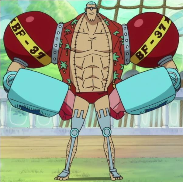 Que devient Franky pendant son séjour au royaume futuriste de Balgimoa ? Réponse à la page 4,  One Piece 65  !
