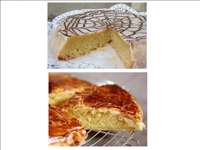 Quel est ce gâteau, feuilleté ou fondant recouvert d'un glaçage, fourré avec un mélange crème pâtissière et poudre d'amandes ?