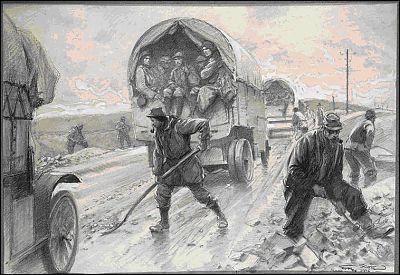 Quel nom porte le seul accès au front au long duquel l'armée française organise l'arrivée des renforts et des armements ?
