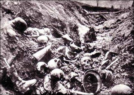 L'enfer de l'artillerie et le désastre humain rendent compte d'un triste bilan. Combien y eut-il de morts de part et d'autre ?