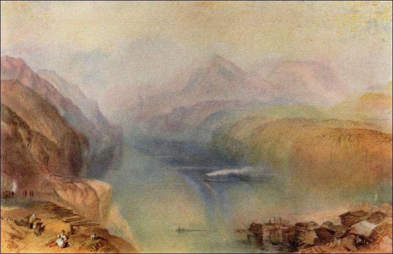 Comment s'appelle la technique empruntée par William Turner pour nous offrir ce paysage ?