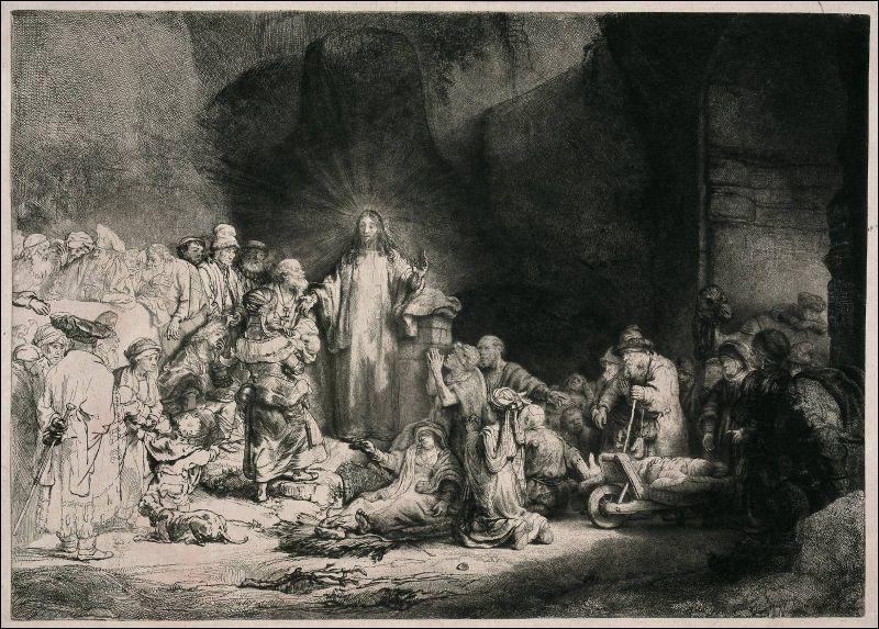 Rembrandt, dans l'oeuvre ci-contre, emploie cette technique pour la réaliser. Quelle est-elle ?