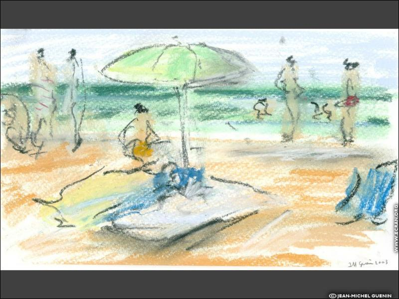 Cette réalisation, à mi-chemin entre le dessin et la peinture, est typique de l'emploi... ?